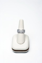 Platinum eternity band with 3.00 carats of diamonds