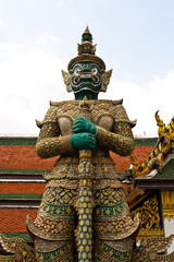 Giant demon guardian at Wat Phra Kaew