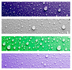 water drop banner set .