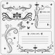Vector set: calligraphic decoration elements