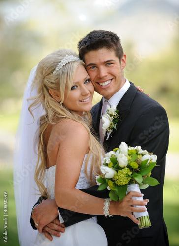 Leinwandbild Motiv Bride and Groom