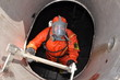 man in chemical suit - 30961944