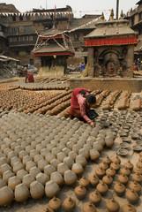 Pottery making, Bhaktapur.