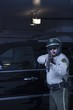 Nightwatch patrolman aims rifle