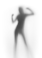 Sexy dancer woman silhouette abstract