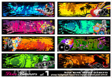 Fototapety Music Disco Banners - Set 1