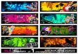 Fototapety Music Disco Banners - Set 1