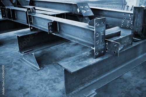 Leinwanddruck Bild metal beams