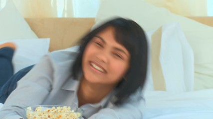 Chinese woman laughing a lot