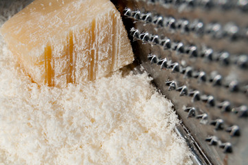 Chip off the fresh Parmesan.
