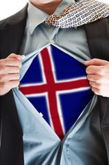 Iceland flag on shirt
