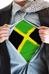 Jamaica flag on shirt