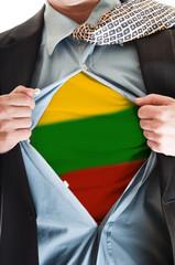 Lithuania flag on shirt