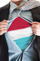 Luxembourg flag on shirt