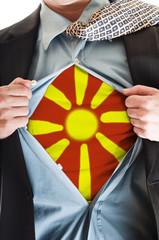 Macedonia flag on shirt
