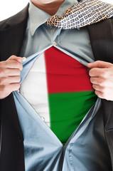 Madagascar flag on shirt