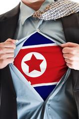 North Korea flag on shirt