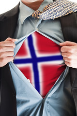 Norway flag on shirt