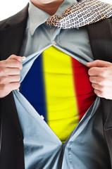 Romania flag on shirt