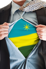 Rwanda flag on shirt