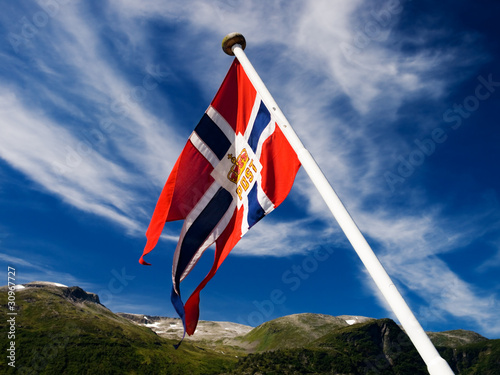 Norwegian post flag
