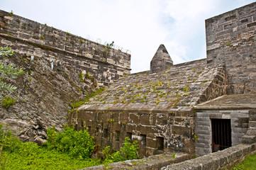 Ancient tropical fort in Bermuda