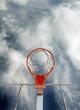 imagen abstracta de canasta de baloncesto