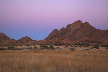 Spitzkoppe Range, Earths shadow, Namibia