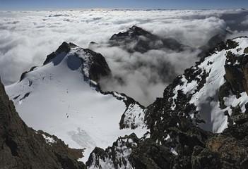 East-view from Hoher Riffler Summit, Verwall Range, Austria