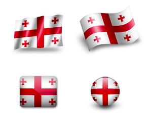 georgia flag icon set