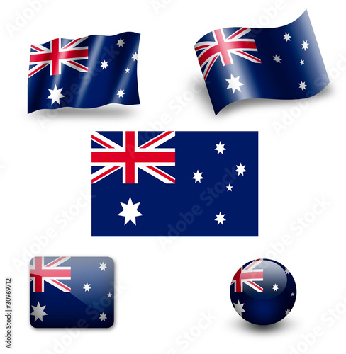 australia flag icon set