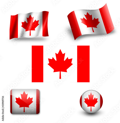 canada flag icon set