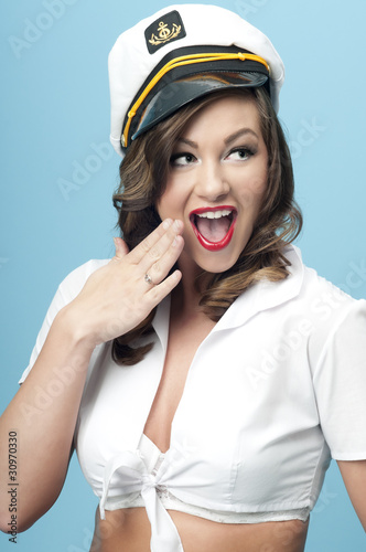 Nautical Pinup Girl