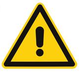 Blank Danger And Hazard Triangle Warning Sign Isolated Macro