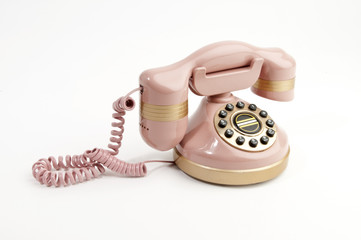 Pink Replica 1940's Phone