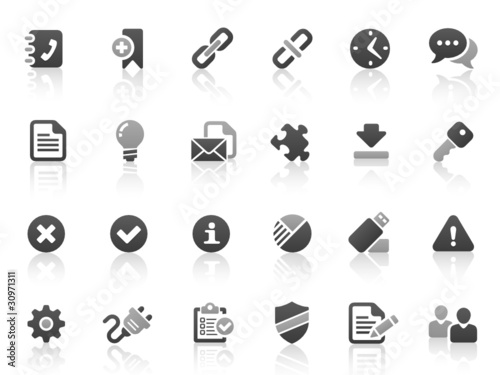Black Gray Vector Icons
