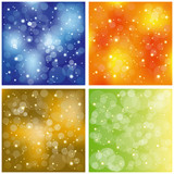 Set of sparkling colorful stardust wallpaper poster