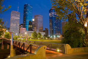Downtown Houston by night