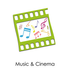 Logo Music and Cinema Vintage # Vector