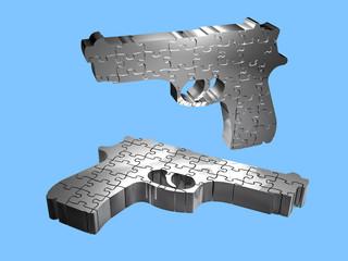 Pistolen - Puzzle - 3D