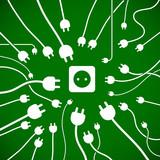 Fototapete Plug - Grün - Hintergrund