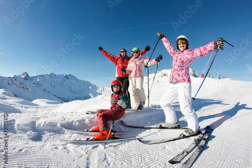 mata magnetyczna portrait ski famille
