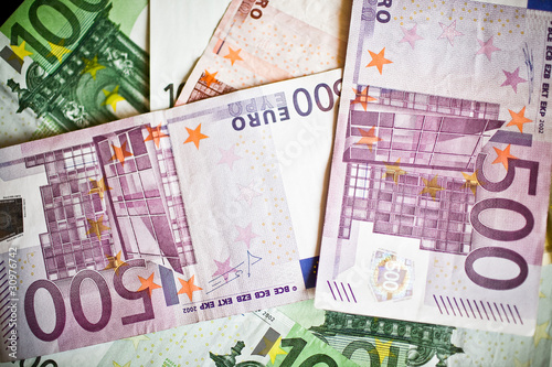 Background of euro bills