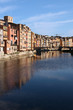 Girona with Onyar river, Spain