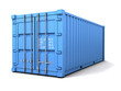 3d Blue shipping container