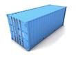 3d Blue cargo container