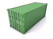 3d Green cargo container