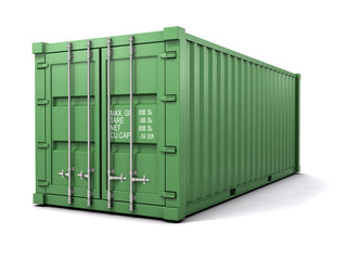 3d Green shipping container