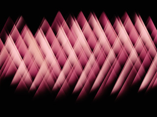 Abstract pink glowing strikes pattern on black