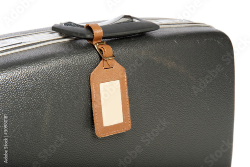 Close-up of an old suitcase
